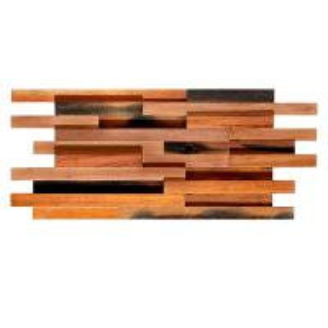 China Solid Wood Mosaic Wall Panels , Room Reclaimed Boat Wood Wall Panel wholesale