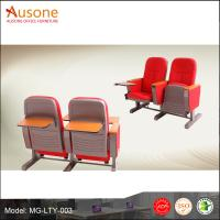 China High Back Auditorium Chair and Desks With Writting Tablet For School Lecture wholesale
