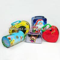 China carry tin box, handle box for gifts wholesale