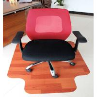 China Eco-Friendly Large Wooden Heavy Duty Chair Mats For Plush Car / Bedroom Floor wholesale