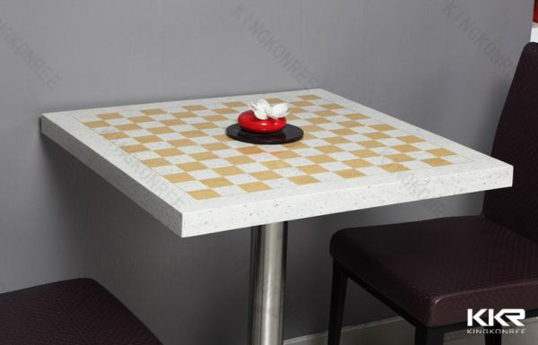 Corian dining table top images for Table 99 restaurant
