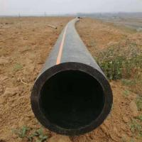China ISO 4427  PE 100 Orange Hdpe Gas Line , Hdpe Plastic Pipe For Water Supply on sale