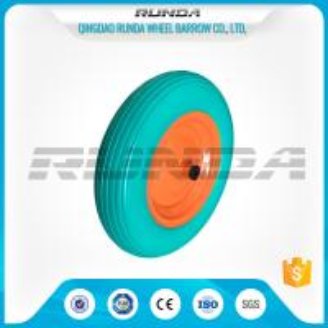 China Enviromental Materials PU Foam Wheel , TUV Polyurethane Wheels With Bearings wholesale
