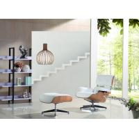China Genuine Leather Eames Hotel Lounge Chairs And Ottoman Contemporary Design Of Simplicity wholesale