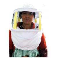 China Beekeeping Protective Clothing White Square Bee Veil Breathable With Round Type Bee Hat   For Beekeepers wholesale