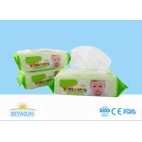 China Natural Baby Disposable Wet Wipes Flushable For Hand / Mouth Cleaning wholesale