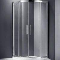 8mm quadrant shower enclosure with double holes stainless roller