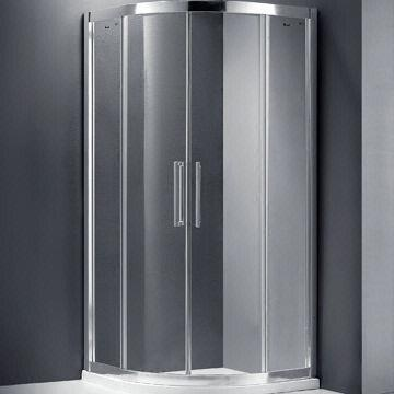 Quality 8mm quadrant shower enclosure with double holes stainless roller for sale