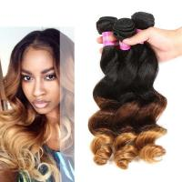 China Peruvian Loose Wave Ombre Human Hair Extensions For Black Women wholesale