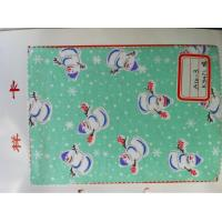 China stocklot snowman print 100% cotton flannel fabric for baby garment and sleepwear 20*10 40*42 wholesale