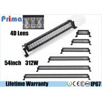 China Offroad 54 Inch Curved LED Light Bar 312 Watt Super Bright 4D Optical Lens wholesale