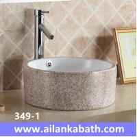 Buy cheap 2016 new model fashion colorful baisn round shape sanitary ware art basin for from wholesalers