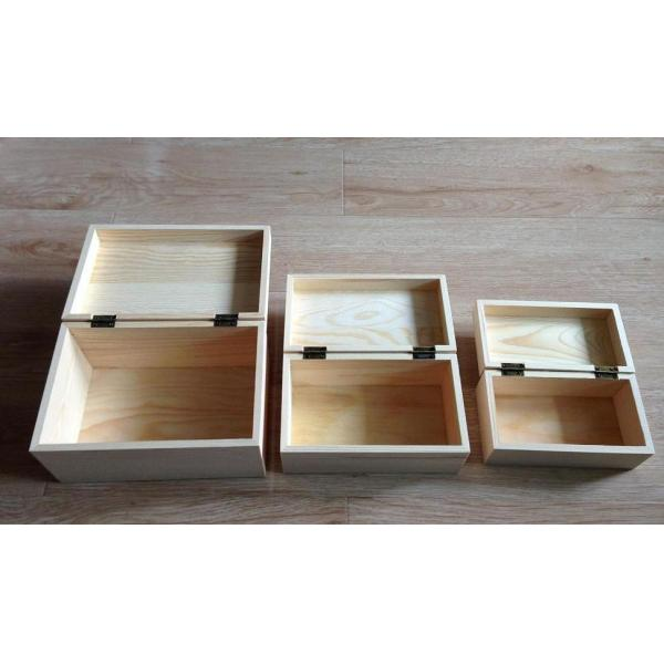 Quality Wooden Wine Gift Boxes with Hinge& Clasp, 3 sizes of Small, Medium and Large for sale