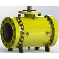 China Safe Carbon Steel  Trunnion Mounted Ball Valve with Self Relieving Seat Rings on sale