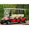 China Carro de golf al aire libre popular de 6 Seater con el borde de aluminio, voltaje de la batería 48V wholesale