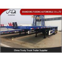 China 3 Axles 40 FeetFlatbed Container Trailer Transport 20/40 Feet Container Selling wholesale