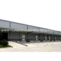 China Light Steel Structure Warehouse Depots With Aluminium Sandwich Panel Double Curved Roof wholesale