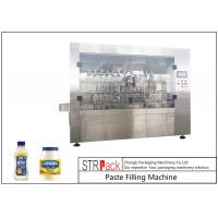 China Customized Mayonnaise / Ketchup Filling Machine , High Viscosity Piston Filler wholesale