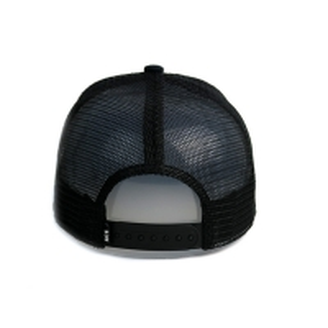 China Summer Black Mesh Flat Brim Snapback Hats Custom Patches Logo Hip Hop Trucker Cap wholesale