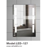 China Wall Mounted Touch LED Bathroom Mirror , Split Rectangle Light Up Mirror With Lights In It on sale