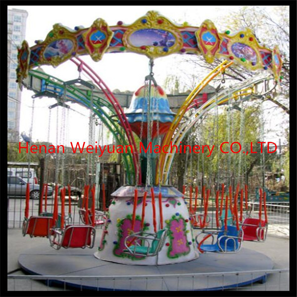 Quality 12 seats mini flying chair amusement rides attractions for children for sale