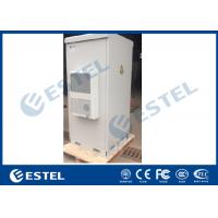 China Double Wall IP55 Outdoor Telecom Cabinet Floor Mount Waterproof Three Point Lock on sale