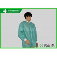 China Green / Blue Disposable Lab Coat  Disposable Lab Jackets For Laboratory on sale