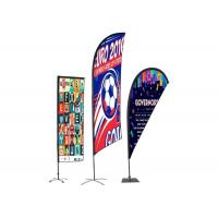 Personalised Outdoor Promotional Flags And Banners Advertising Usage BSCI Certification for sale