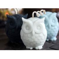 China Desktop Decorative Large Owl Shaped Silicone Candle Molds 8.5*6.5*8.5/400g wholesale