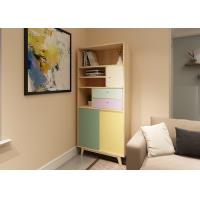 Attrative Modern Bedroom Bookshelf With Solid Wood + Melamine + Lacquer Painting