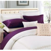 China Sateen Stripe Sheets 4pcs Polyester Cotton Bedsheets on sale