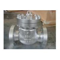 China Silver / Blue Petroleum Valves , API 6D Pressure Seal Bonnet Swing Check Valves wholesale
