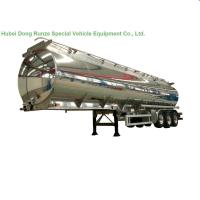 China Aluminum Alloy Fuel Tank Semi Trailer 45000L ~50000L With Air Bag Suspension wholesale