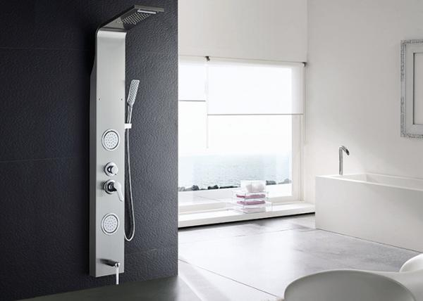 Quality Overhead Square Spout Tub Shower Panels , ROVATE Shower Panel With Massage Jets for sale