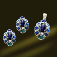 China Silver Opal Jewelry Ring Set (RSK2424) wholesale