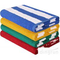 China High Absorbency Terry Cotton Stripe Bath Towels Beach Towels For Swimming wholesale