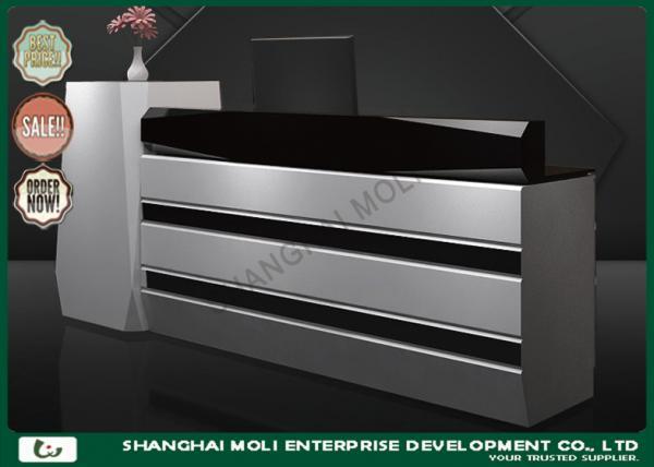 OEM & ODM Large wooden cash counter in shops , cash register display