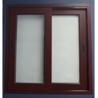 China 1.6mm thickness white material aluminum sliding windows for office building window on sale
