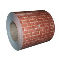 China ASTM A653 SGCC Galvanized Color Coated Steel Coil HDP Painted With Brick Colored wholesale