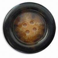 China Polyester Resin Button, Heavy Metal- and Phthalates-free, Available in Various Sizes wholesale
