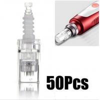 China Derma Micro Needle Therapy Pen , 12 Pins Clear Cartridge Nano Pen Needles on sale