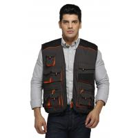 China Classic Warm Work Vest Canvas Fishing Vest With Oxford Reinforcement wholesale