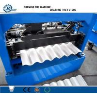 China 0.3-0.8mm Thickness Corrugated Roll Forming Machine For Wall And Roof Use wholesale