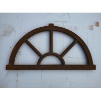 China Old Cast Iron Antique Window Frames For Lighting French Style H36xW67CM wholesale