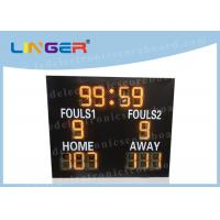 China Different Sports LED Electronic Scoreboard Outdoor Front Glass Board UV Protection wholesale