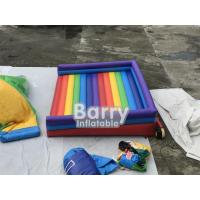 China Rainbow Inflatable Jumping Bed Inflatable Bouncer Funny Outdoor Inflatable Sport Games For Playground on sale