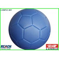 China Pebble Surface Leather Soccer Ball Made By Basketball PVC Leather on sale