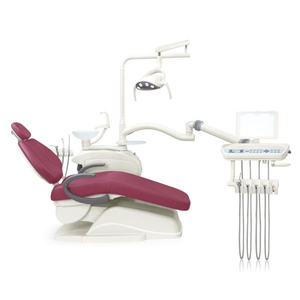 Quality Low Mounted Dental Chair Unit , Soft Leather Dental Chair Equipment for sale