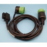 China Right Angle Green 9 Pin Deutsch Cable Type 2 For Truck Auto Diagnostic Tool wholesale