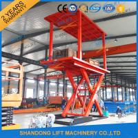China 3T+3T Double Deck Hydraulic Scissor Car Garage Lift For Basement With CE SGS TUV wholesale
